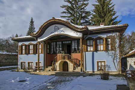 ethnographical: The Lyutov House, a mid-19th century house in Koprivshtitsa, Sofia Region, Bulgaria