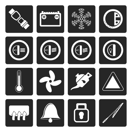dashboard: Black Car Dashboard icons -  vector icons set
