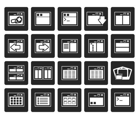 side menu: Black Application, Programming, Server and computer icons- vector Icon Set 2