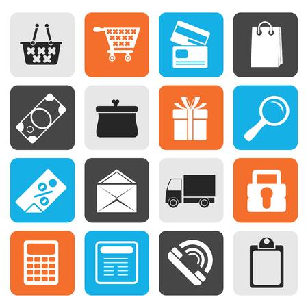 confirm: Flat Online shop icons - vector  icon set Illustration