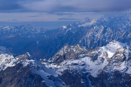 zermatt: Amazing winter Landscape of Alps from Matterhorn Glacier Paradise, Switzerland
