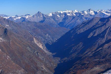 valais: Amazing panorama of Swiss Alps and Zermatt Resort, Canton of Valais,  Switzerland