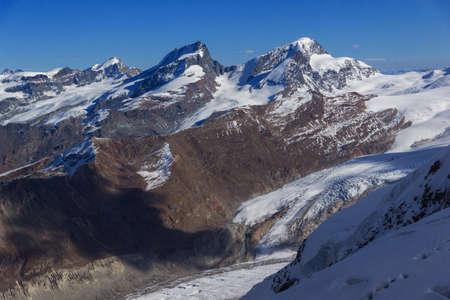 valais: Winter panorama of Swiss Alps, Canton of Valais,  Switzerland