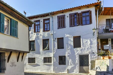 old town house: Typical house and fountainin old town of Xanthi, East Macedonia and Thrace, Greece