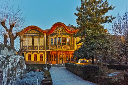 ethnographic: Amazing Night photo of The Ethnographic Museum, city of Plovdiv, Bulgaria Editorial