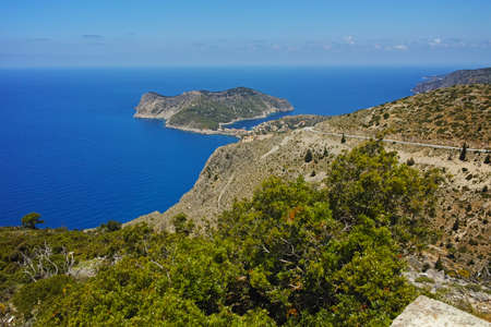 cefallonia: Amazing panorama to Assos village, Kefalonia, Ionian Islands, Greece