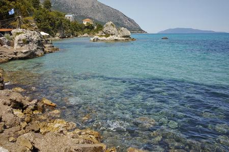 cefalonia: Small Bay and stony beach, Kefalonia, Ionian islands, Greece Stock Photo