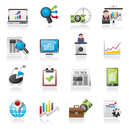 market analysis: Business and Market analysis icons - vector icon set