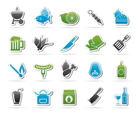 pinafore: Grill and Barbecue Icons - vector icon set