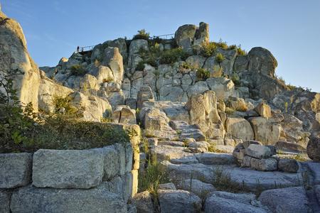 past civilization: Ruins of The ancient Thracian city of Perperikon, Kardzhali Region, Bulgaria Stock Photo