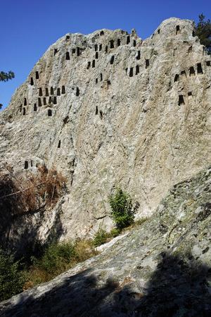 truncated: Antique Thracian Sanctuary Eagle Rocks near town of Ardino, Kardzhali Region, Bulgaria