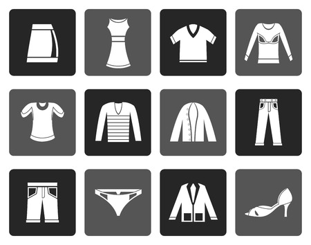 'pull over': Flat Clothing Icons - Vector Icon Set Illustration