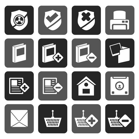 internet buttons: Flat Internet and Website buttons and icons -  Vector icon set