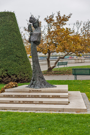 empress: Monument of Empress Elisabeth of Austria,  Geneva, Switzerland