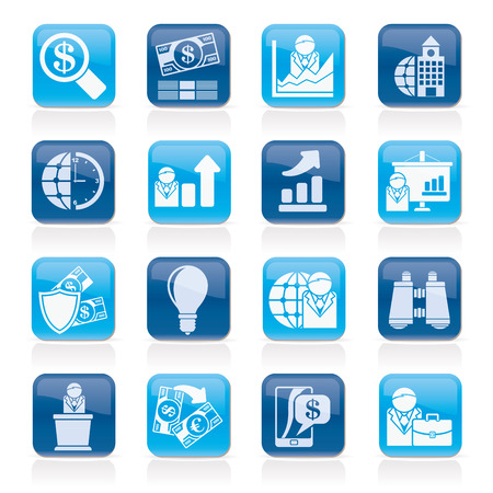 chad: Business and Finance Strategies  Icons  - vector icon set Illustration