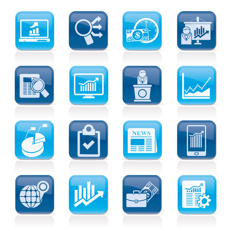 stock trader: Business and Market analysis icons - vector icon set