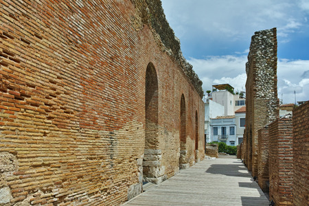architectural heritage: ancient ruins of Roman Odeon, Patras, Peloponnese, Western Greece