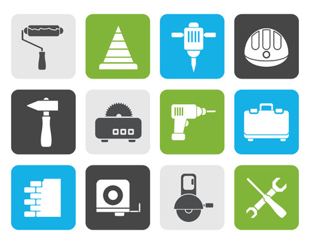 portmanteau: Flat Building and Construction Tools icons - Vector Icon Set Illustration