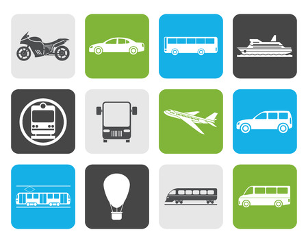 subway train: Flat Travel and transportation of people icons - vector icon set