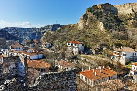 Panoramic view of town of Melnik, Blagoevgrad region, Bulgaria