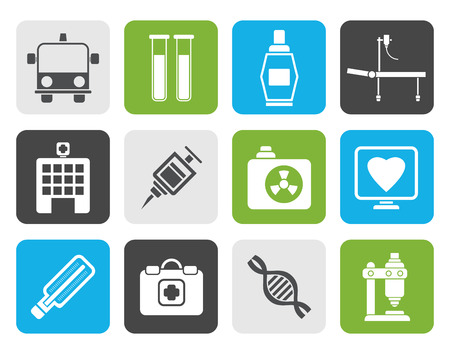 healthcare and medicine: Flat Medicine and healthcare icons - icon set
