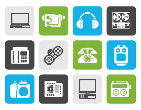 électronique plat, les médias et les icônes d'équipement technique - icon set