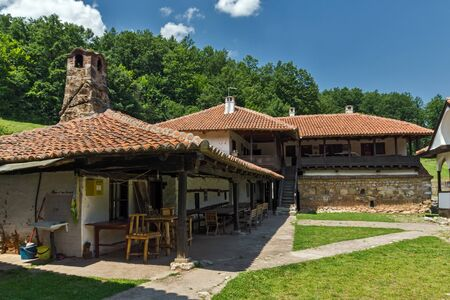 theologian: Building in medieval Poganovo Monastery of St. John the Theologian, Serbia