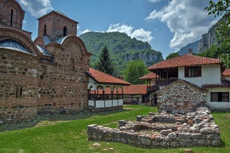 theologian: Panoramic view  of St. John the Theologian and Balkan Mountain, Serbia Stock Photo