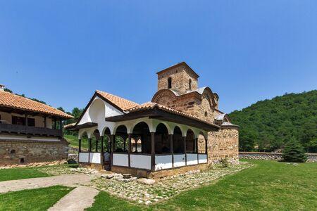 theologian: Amazing buildingof the church in Poganovo Monastery of St. John the Theologian, Serbia Stock Photo