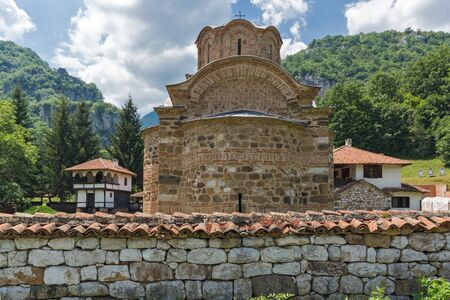 theologian: Church and Old Buildings in Poganovo Monastery of St. John the Theologian and Erma River Gorge, Serbia