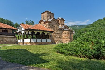theologian: Panoramic view of church in Poganovo Monastery of St. John the Theologian, Serbia