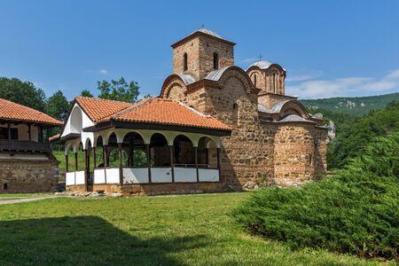 theologian: Amazing view of church in Poganovo Monastery of St. John the Theologian, Serbia