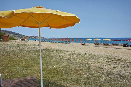 skala: beautiful beach at Skala resort, Kefalonia, Ionian islands, Greece