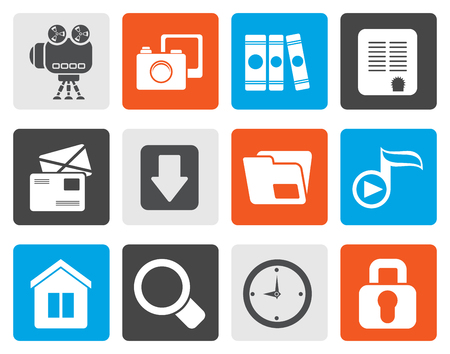 chock: Flat Computer and website icons - vector icon set