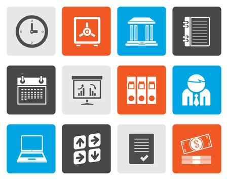 bill board: Flat Business, finance and office icons - vector icon set