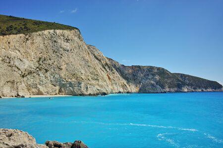 blue waters: Blue Waters of Porto Katsiki Beach, Lefkada, Ionian Islands, Greece
