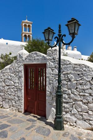 ano: Panagia Tourliani monastery inTown of Ano Mera, island of Mykonos, Cyclades, Greece Stock Photo