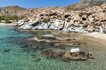 rock formations: Blue Waters and  rock formations of kolymbithres beach, Paros island, Cyclades, Greece