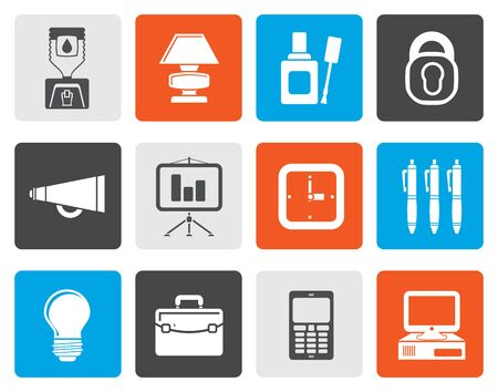 corrector: Flat Business and office icons - vector icon set Illustration
