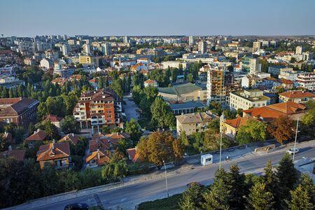 haskovo: Amazing Panorama of City of Haskovo from Monument of Virgin Mary, Bulgaria