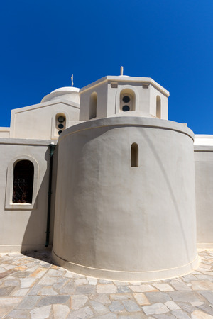 chora: Catholic church in the fortress in Chora town, Naxos Island, Cyclades, Greece