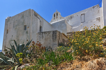 chora: Small Church in the fortress in Chora town, Naxos Island, Cyclades, Greece