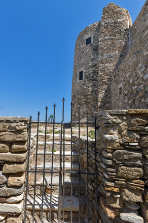 chora: Castle wall of the fortress in Chora town, Naxos Island, Cyclades, Greece