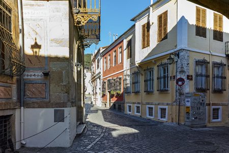 old street: street in old town of Xanthi, East Macedonia and Thrace, Greece