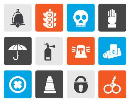 fire brigade: Flat Surveillance and Security Icons - vector icon set