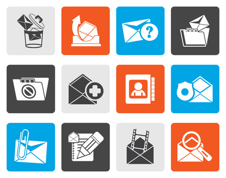 recipient: Flat E-mail and Message Icons - vector icon set Illustration