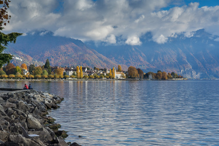 vevey: Amazing panorama of Vevey, canton of Vaud, Switzerland