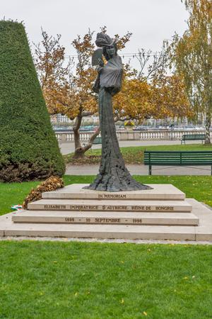 elisabeth: Monument of Empress Elisabeth of Austria,  Geneva, Switzerland