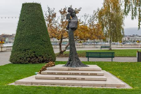 empress: Monument of Empress Elisabeth of Austria,  Geneva, Switzerland