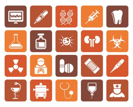 spermatozoon: Flat Healthcare, Medicine and hospital icons - vector icon set Illustration
